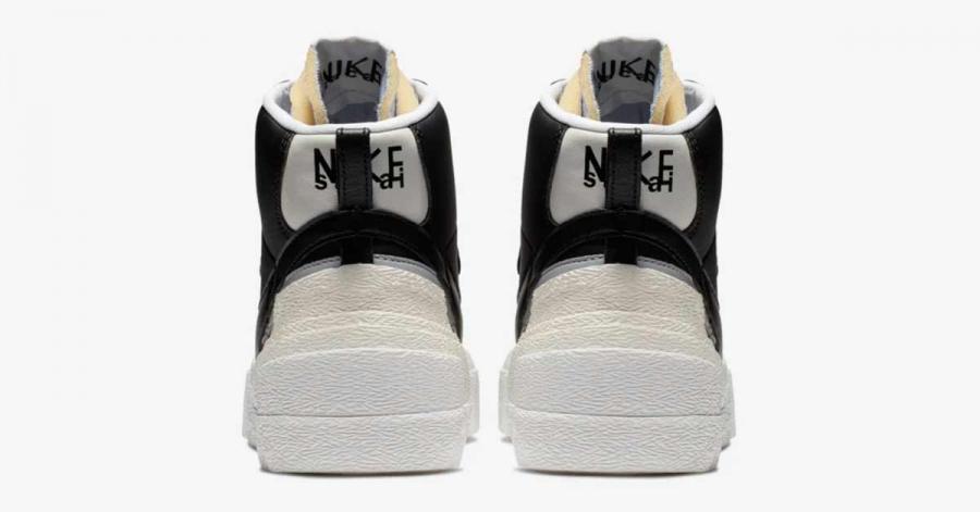 Sacai x Nike Blazer Mid Black Wolf Grey BV0072-002