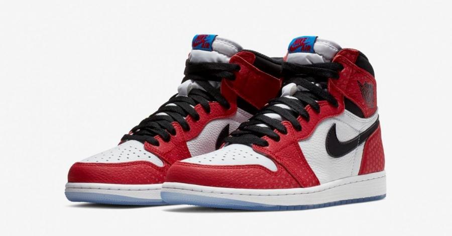 Spiderman x Nike Air Jordan 1 555088-602