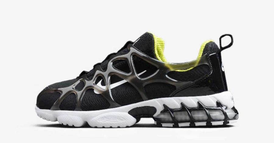 Stussy x Nike Air Zoom Spiridon KK Sort CJ9918-001