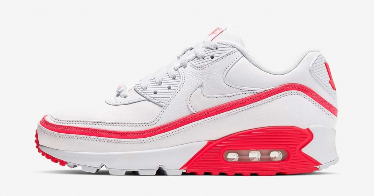 Undefeated x Nike Air Max 90 Hvid Rød Cool Sneakers