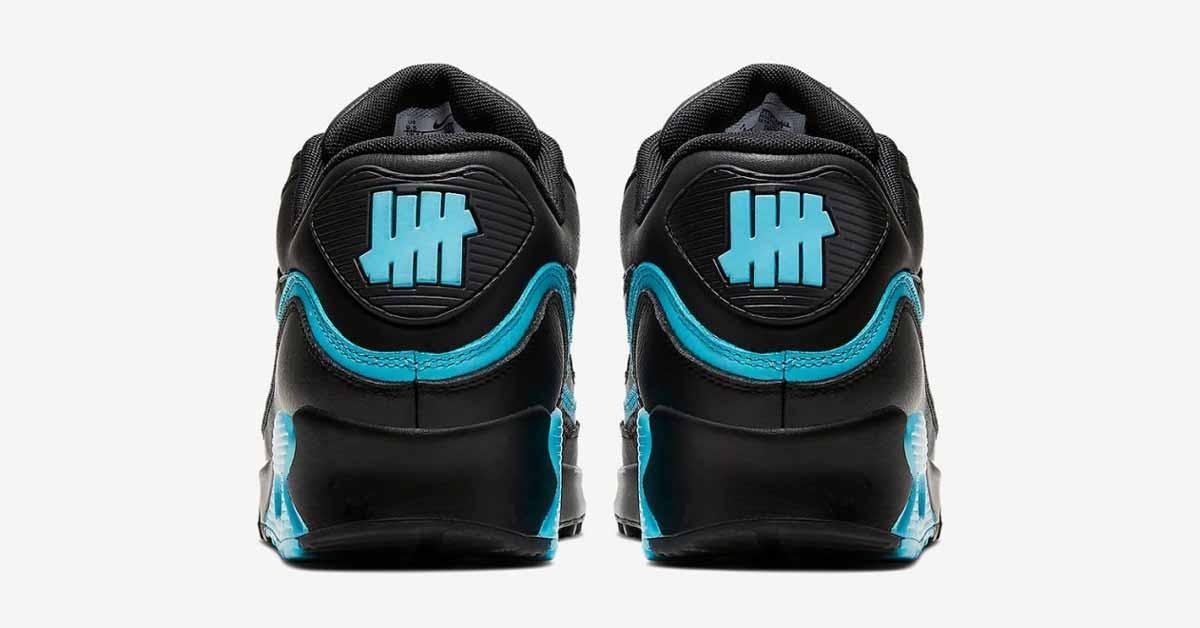 Undefeated x Nike Air Max 90 Sort Blå CJ7197-002